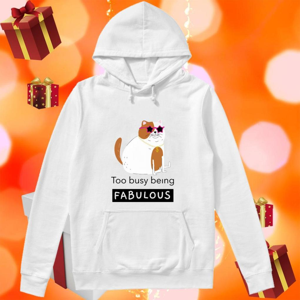 Cat too busy being fabulous hoodie
