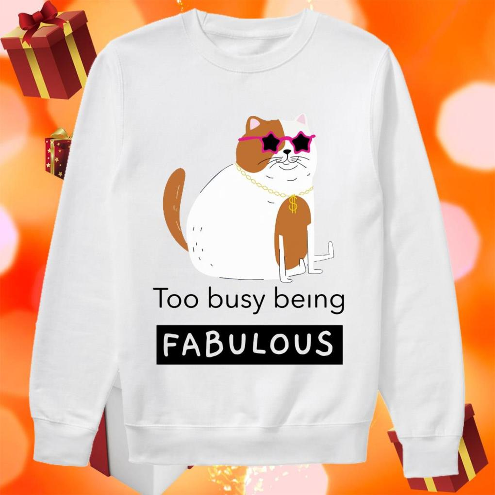 Cat too busy being fabulous sweater