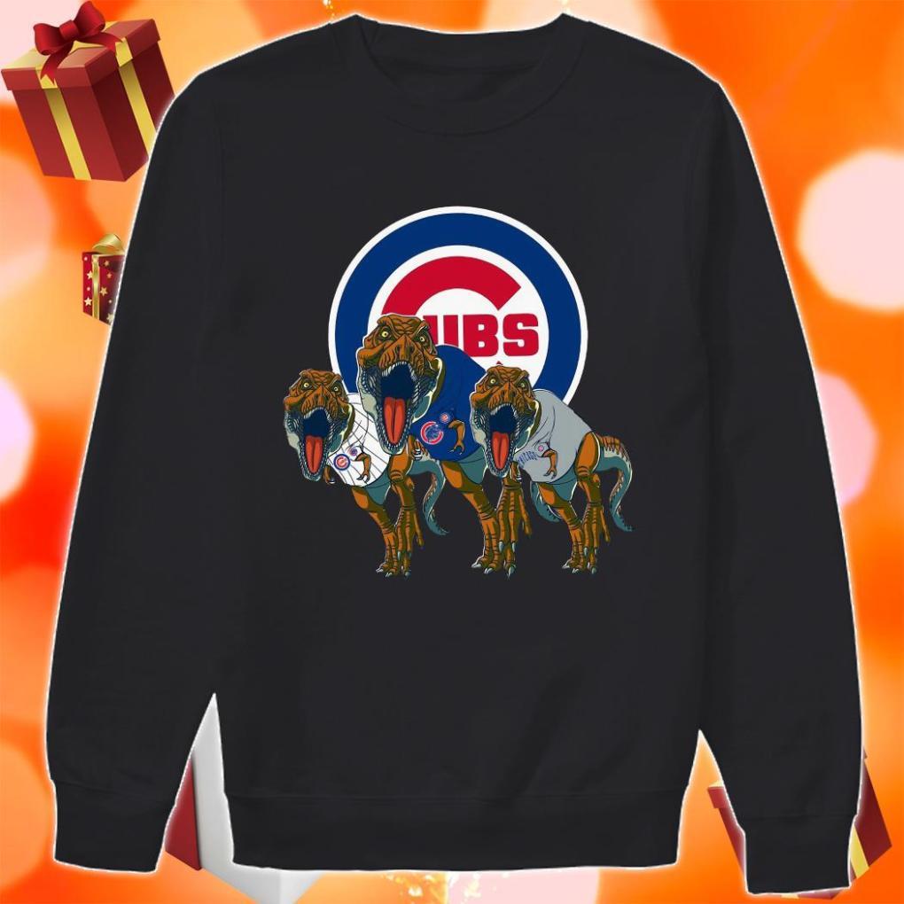 Dinosaur T-Rex Chicago Cubs Women's sweater