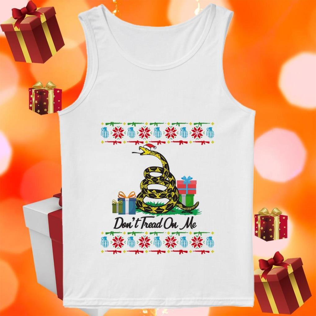Don't Tread On Me Ugly Christmas tank top