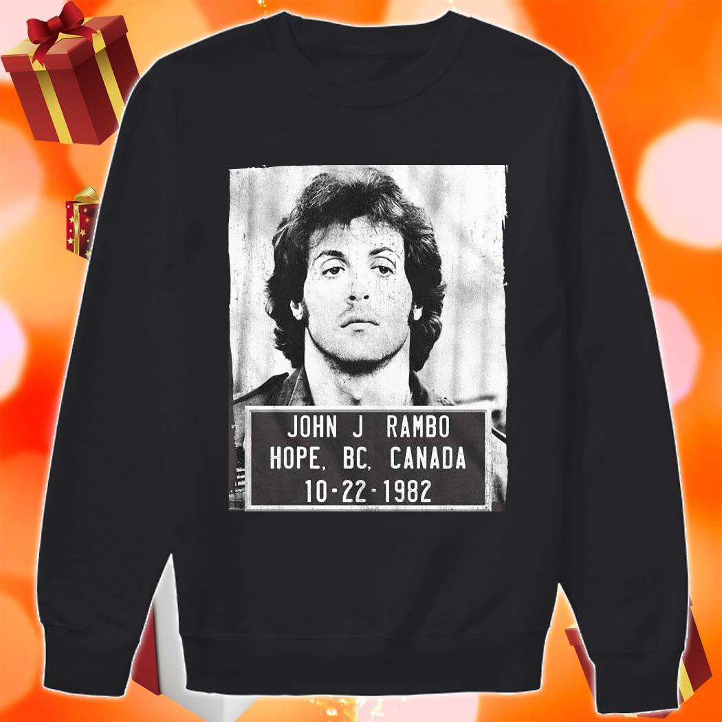 John J Rambo Hope Canada Mugshot sweater