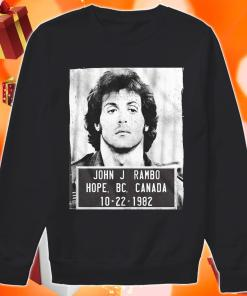 John J Rambo Hope Canada Mugshot sweater