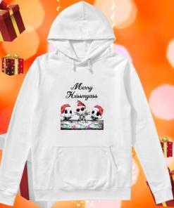 Merry Kissmyass Jack Skellington Santa Claus hoodie