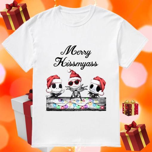 Merry Kissmyass Jack Skellington Santa Claus shirt