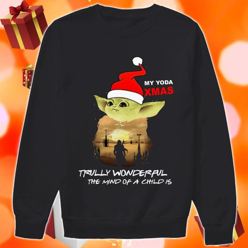 My Yoda Xmas Trully wonderful the mind of a child is Christmas sweater