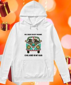 On a dark desert highway cool wind in my hair Baby Yoda and Yoda Hippie hoodie