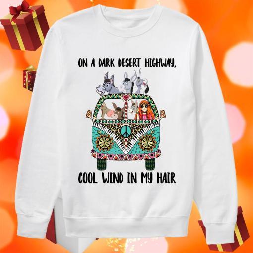On a dark desert highway Hippie Girl donkey sweater