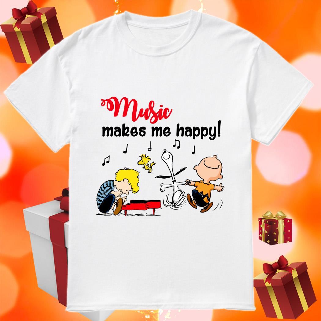 Peanuts Music makes me happy shirt