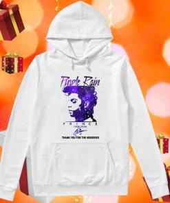 Purple rain Prince 1958 2016 thank you signature hoodie