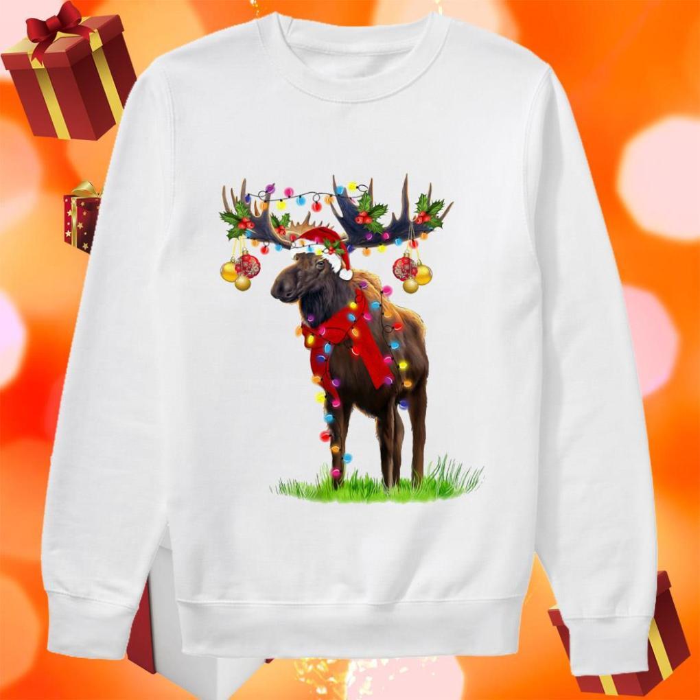 Reindeer Light Merry Christmas sweater