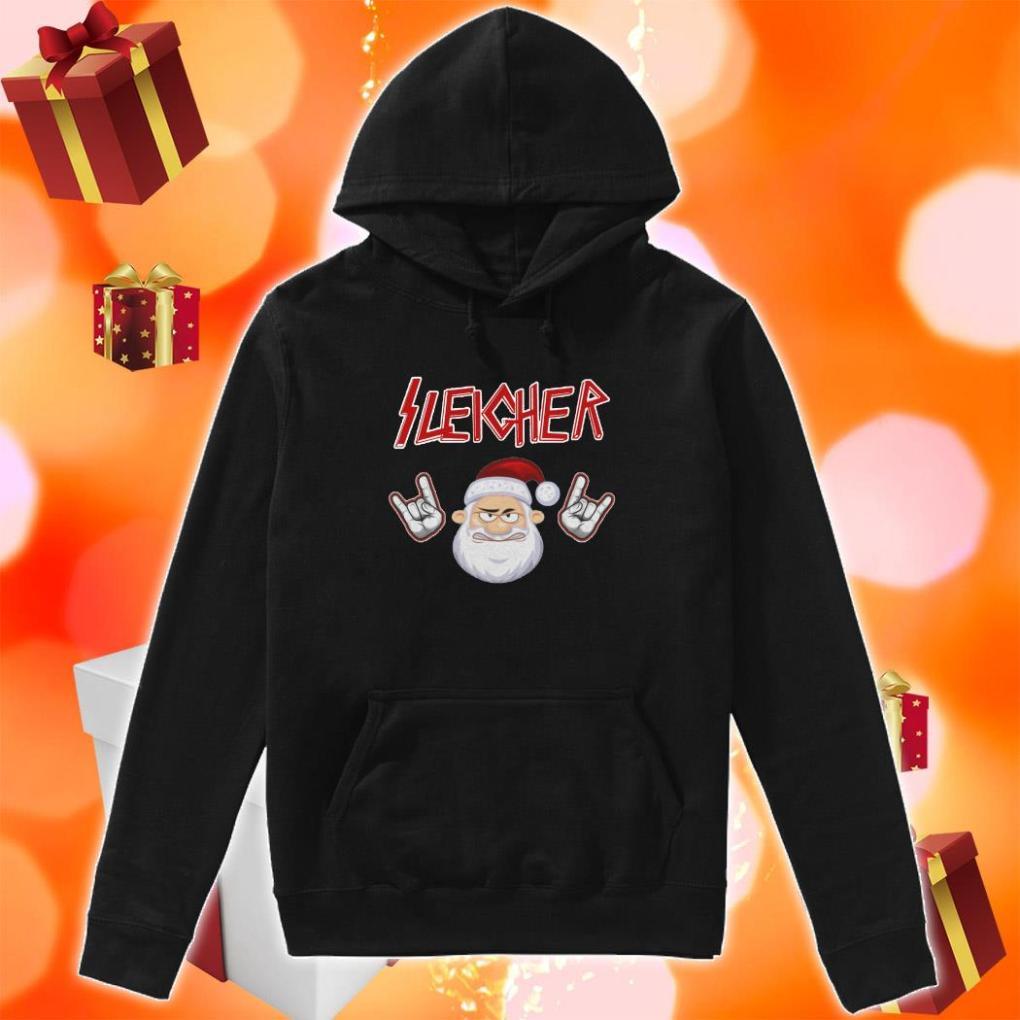 Sleigher Santa Claus Rock n' Roll hoodie