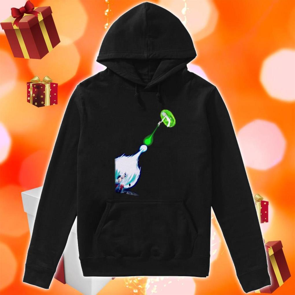 Son Goku Kamehameha Rick Portal Gun hoodie