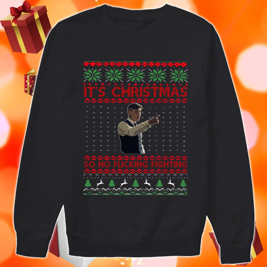 Thomas Shelby It's Christmas so no fucking fighting shirt 2 Picturestees Clothing - T Shirt Printing on Demand