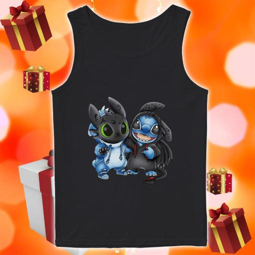 Toothless and Stitch tank top