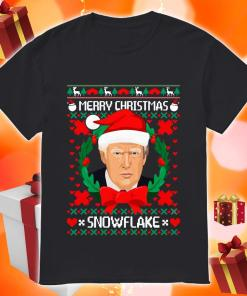 Trump Santa Merry Christmas snowflake ugly Christmas shirt