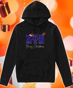Zeta Phi Beta Merry Christmas hoodie