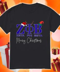 Zeta Phi Beta Merry Christmas Shirt