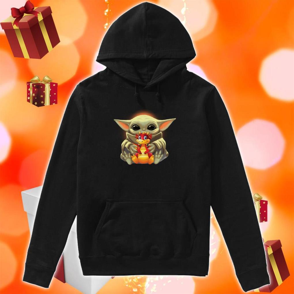 Baby Yoda hug Dragon hoodie