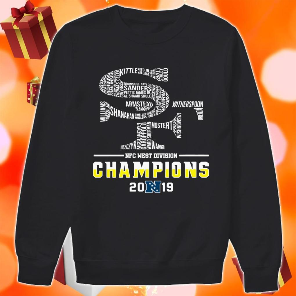 San Francisco 49ers NFC West Division Champions 2019 sweater