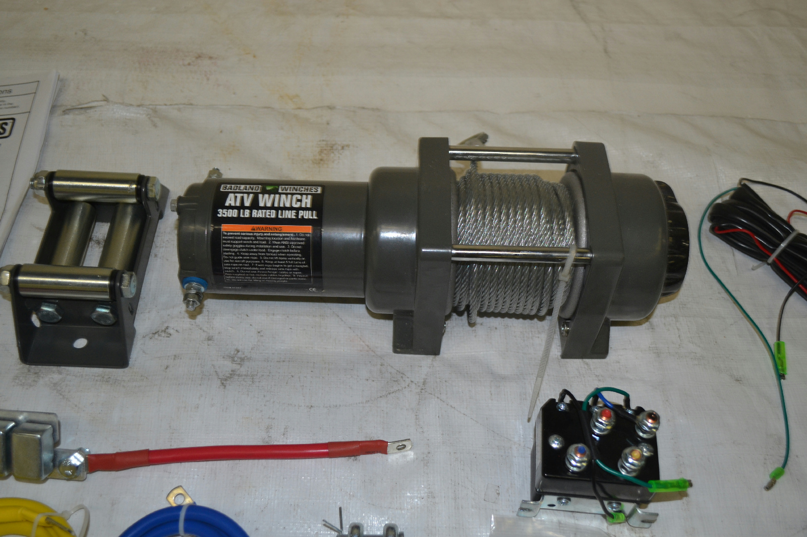 3500 Lb. ATV/Utility Electric Winch With Automatic Load