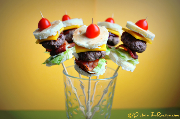 Game day Recipes- Bacon Burger Bites  PTR