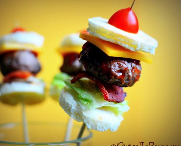Mini Bacon Burger Bites-PTR