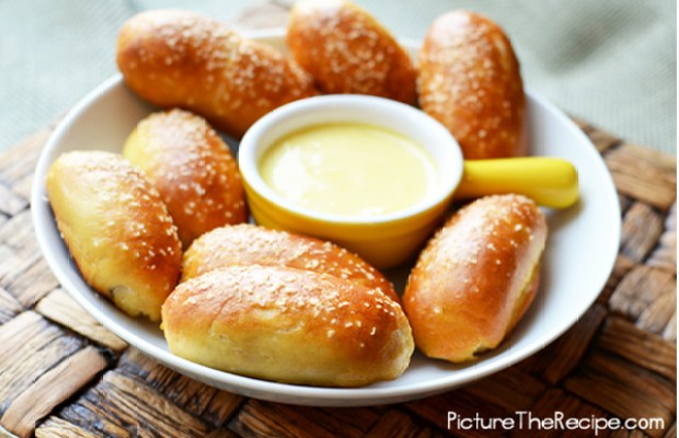 Mini Sausage stuffed pretzel bites