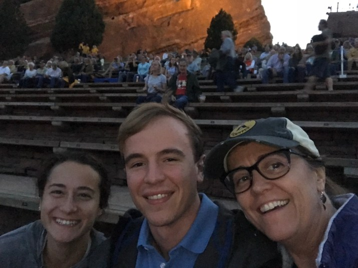 Enjoying Red Rocks with Drew and Abby
