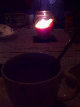 Cocoa by candlelight.