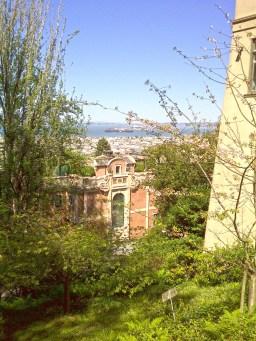 Lyon Street steps - the view.