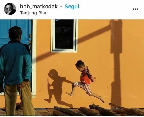 Fotografia ombre bambino a colori