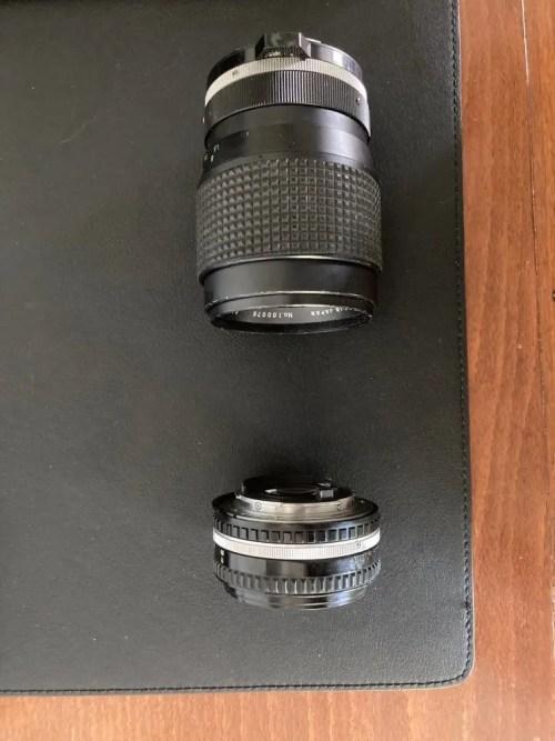 Obiettivo 50mm e 135mm di. lunghezza focale