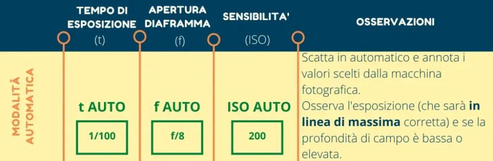 Infografica profondità di campo automatica