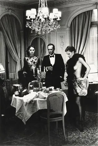 Helmut Newton - after dinner, Paris