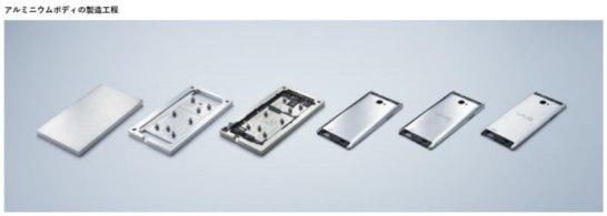 アルミニウム削り出しボディ - VAIO Phone Biz
