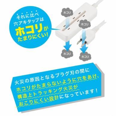 穴アキ電源タップ - ヤザワコーポレーション