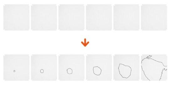 透明プレートに図形を描いて