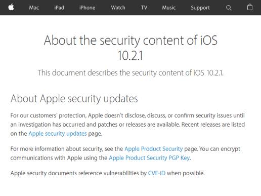iOS 10.2.1 - Apple
