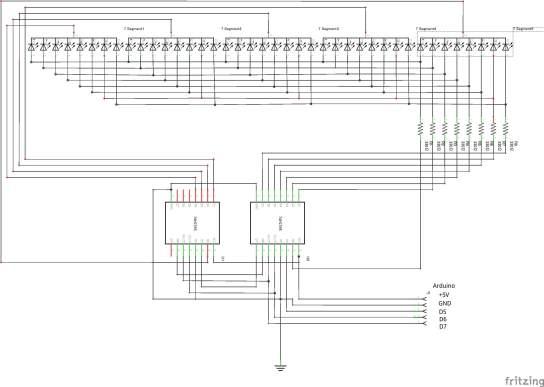 7SEG5DIGIT(74HC595)_回路図