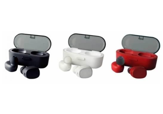完全ワイヤレスイヤホン-充電式専用ケース付属-(ブラック、ホワイト、レッド)