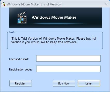 偽プログラムを購入するよう要求するメッセージ