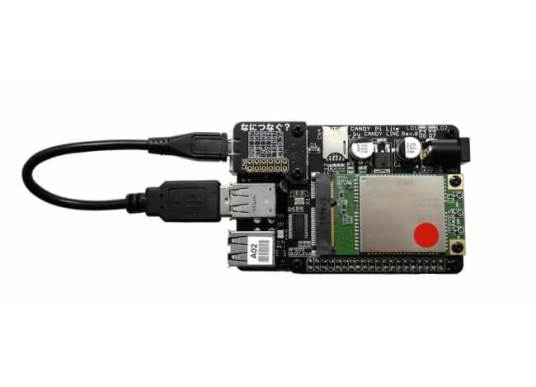CANDY P Lite+(USBケーブルは別売りです)とASUS Tinker Board S