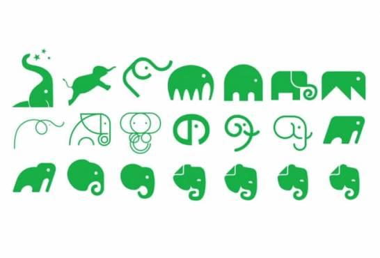 検討段階で挙がったロゴの様々なパターン