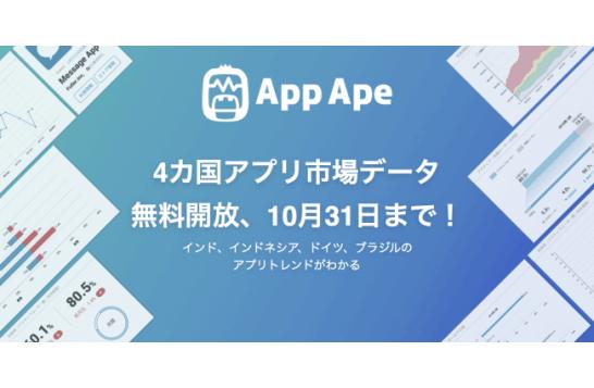 フラー、4カ国アプリ市場データ無料開放、10月31日まで!