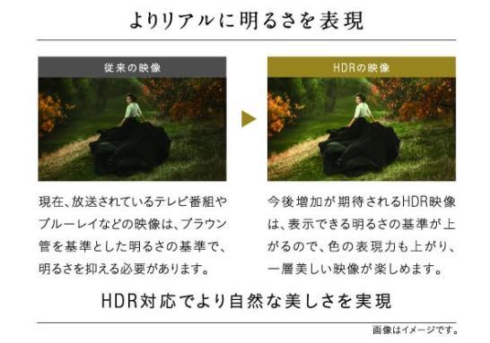 HDR対応でより自然な美しさを実現