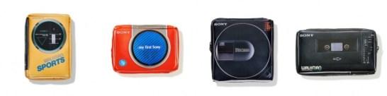 左から)ウォークマンSports WM-35(5,940円)、my first Sony WM-3060 (5,940円)、Discman D-50MkⅡ (5,940円)、ウォークマン・プロフェッショナル WM-D6 (5,940円)