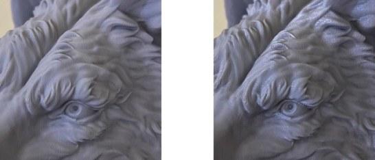左:MODERA PLA、右:PLAライトグレーノンクリア