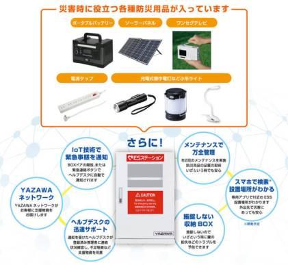 IoT技術を駆使した次世代型防災ボックス「ESステーション」を発売! - ヤザワコーポレーション
