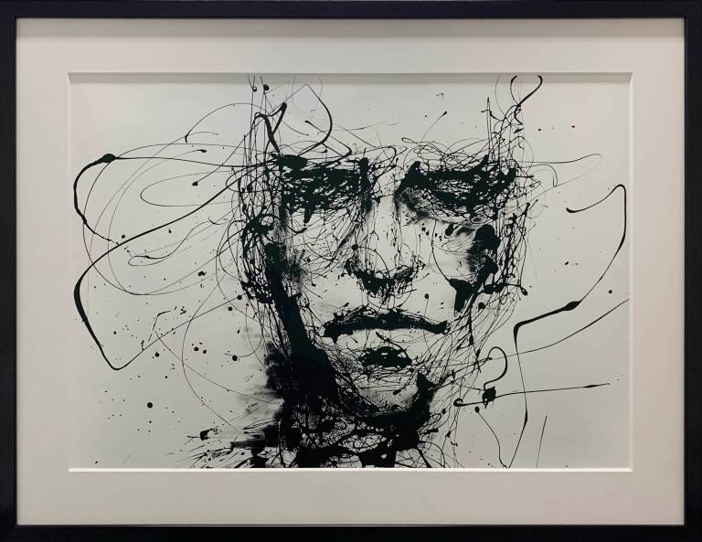 Original artwork, abstract, face
