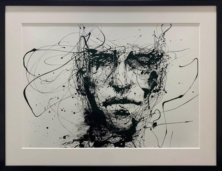 Original artwork, abstract, face